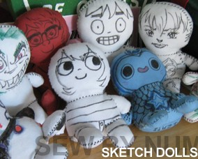 Sketch Dolls for Comic Con
